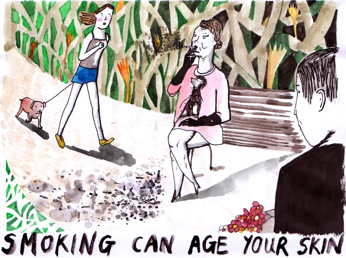 smoking can age your skin
